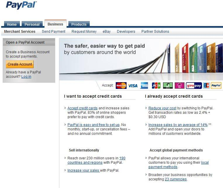 Should small businesses use paypal third party credit card processor applying for a merchant account colourmoves
